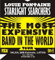 """Louie Fontaine & Starlight Searchers"" koncertēs 309. kabinetā"